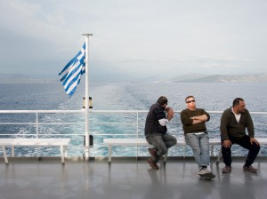 Ferry to the Island of Corfu, Greece, April 2012
